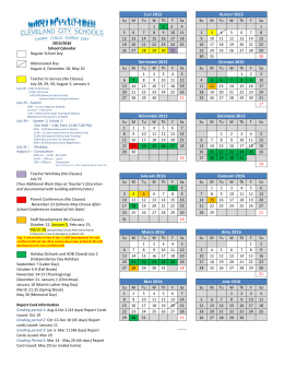 2015-2016 School Year - Cleveland City Schools