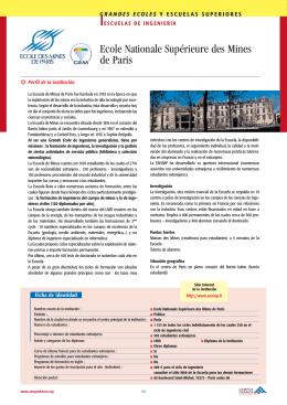 Ecole Nationale Supérieure des Mines de Paris