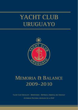 Memoria 2010 - Yacht Club Uruguayo