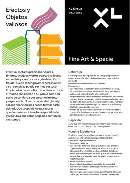 Fine Art & Specie Efectos y Objetos valiosos