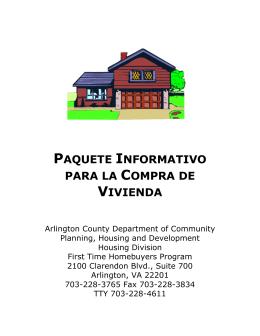 paquete informativo para la compra de vivienda