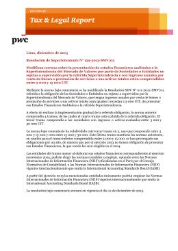 Lima, diciembre de 2013 Resolución de Superintentente N