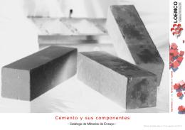 Cemento y sus componentes