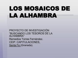 LOS MOSAICOS DE LA ALHAMBRA
