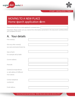 MOVING TO A NEW PLACE Home Tearch application
