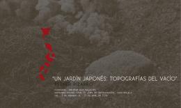 UN JARDÍN JAPONÑES: TOPOGRAFÌAS DEL VACÍO