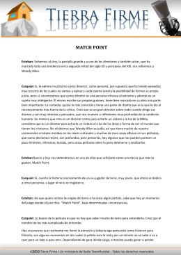 MATCH POINT - Tierra Firme
