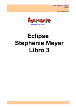 Eclipse Stephenie Meyer Libro 3