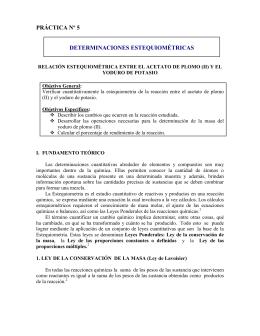 práctica nº 5 determinaciones estequiométricas