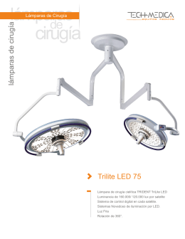 Lampara - Trilite LED 75 - tech
