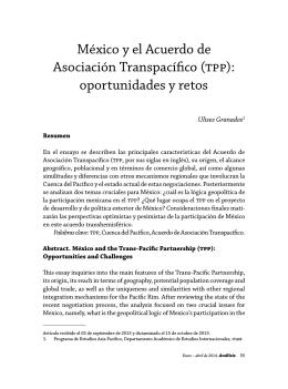 México y el Acuerdo de Asociación Transpacífico