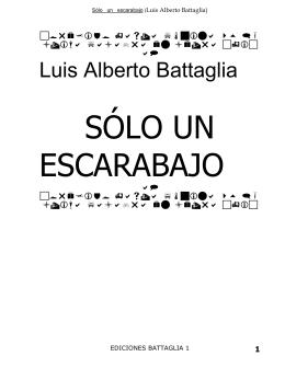 SÓLO UN ESCARABAJO - Biblioteca Virtual Battaletras