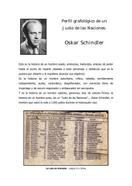 Un Justo de las Naciones: Oskar Schindler