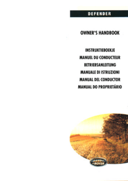 Defender 90-110-130 Manual del Conductor - Spa
