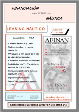 Leasing náutico AFINAN-BS LEASING-italiano-VELAl