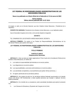 ley federal de responsabilidades administrativas de los servidores