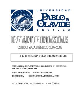 540 PSICOLOGÍA DE LAS ORGANIZACIONES