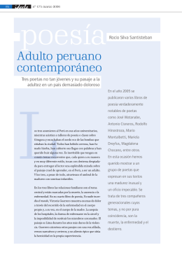 Adulto peruano contemporáneo