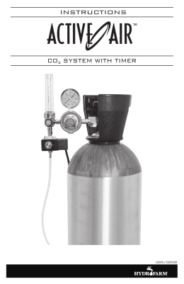 INSTRUCTIONS CO2 SYSTEM WITH TIMER