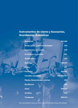 Instrumentos de viento y Accesorios, Acordeones, Armónicas