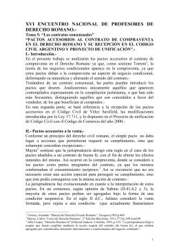Pactos Accesorios a la Compraventa-Dra. Alvarez
