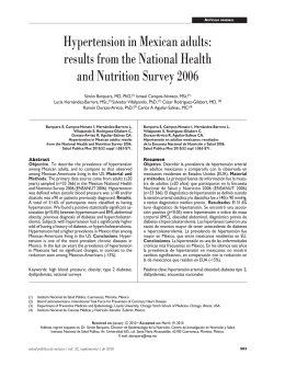 Hypertension in Mexican adults: results from the National Health