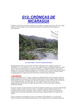 G12, Crónicas de Nicaragua
