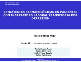 Núria Sabaté Augé - Asociación Latina para el Análisis de los