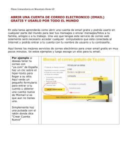 abrir una cuenta de correo electronico (email)