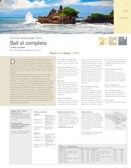 Bali al completo