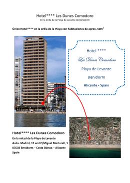 Descargue nuestro folleto - Hotel Les Dunes Comodoro
