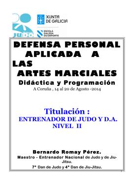 DEFENSA PERSONAL APLICADA A LAS ARTES MARCIALES
