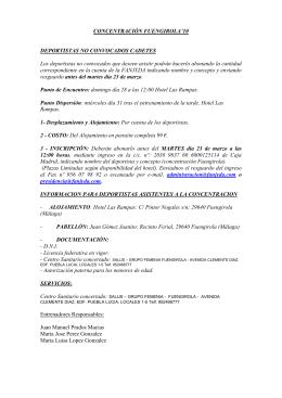 CONCENTRACION FUENGIROLA NO CONVOCADOS cadetes