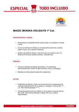 Hotel Magic Aqua Monika Holidays