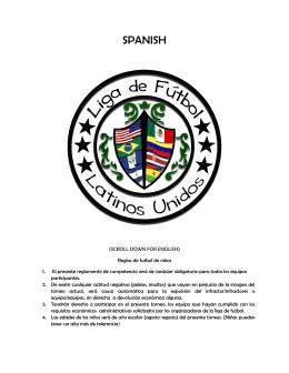 Reglas / Rules - Liga de Futbol Latinos Unidos