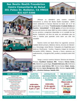 San Benito Health Foundation Centro Comunitario de Salud 351