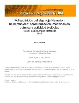 Biblioteca Digital | FCEN-UBA | Pérez Recalde, María Mercedes