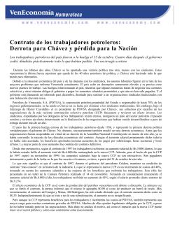 Contrato de los trabajadores petroleros: Derrota para Chávez y