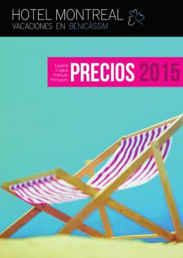 Precios 2015 - Hotel Montreal