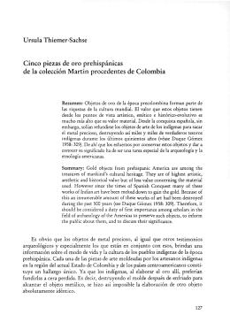 Ursula Thiemer-Sachse Cinco piezas de oro prehispánicas de la