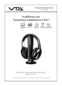 Audífonos con Transmisor Inalámbrico 5 EN 1
