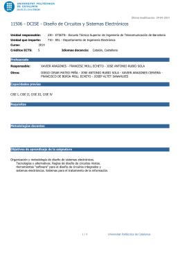 11506 - DCISE - Diseño de Circuitos y Sistemas Electrónicos