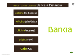 Manual del usuario de Banca a Distancia Bankia