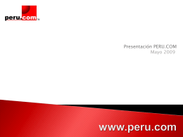 Presentación PERU.COM Mayo 2009