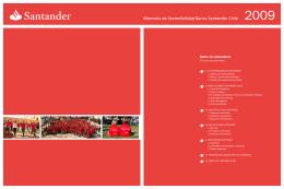 Reporte de Sostenibilidad Banco Santander Chile 2009