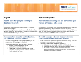 English Spanish / Español Health care for people coming to