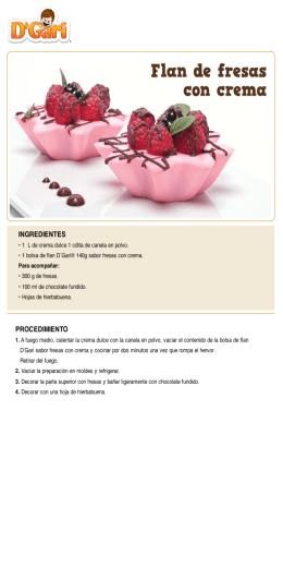Flan de fresas con crema