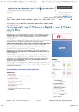 Consumo multa con 10.000 euros a Digital + y con 4.000 a la