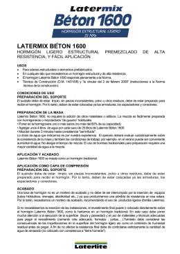 LATERMIX BÉTON 1600