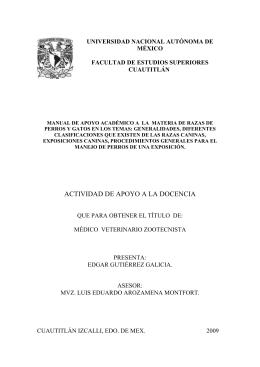 ACTIVIDAD DE APOYO A LA DOCENCIA - Biblioteca, FES-C